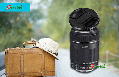 58mm 58 mm Center Front Snap on Lens cap cover for Canon EOS EF DSLR DC + Leash