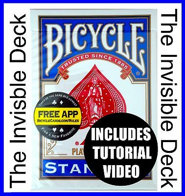 Magic Trick. The Invisible Deck + Video Tutorial. BLUE. Bicycle Cards. New