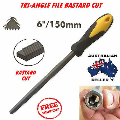 "6"" / 150mm TRIANGLE BASTARD CUT FILE HIGH CARBON STEEL ENGINEERS FILES METAL NEW"