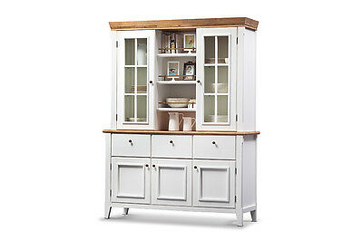 buffet vitrine glasgow wei akazie massiv sprossenfenster landhaus stil schrank eur. Black Bedroom Furniture Sets. Home Design Ideas