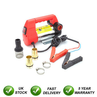 Heavy Duty 12V Portable Electric Fuel Diesel Water Fast Transfer Pump On Battery