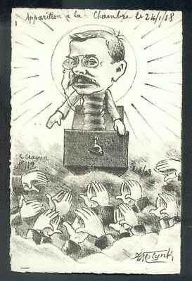 Artist Molynk french political comic postcard (72814