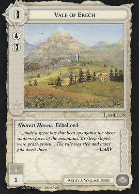 Vale of Erech - Middle Earth The Wizards CCG b.b. Lim.Ed. Mint/N.Mint 1995 ME76