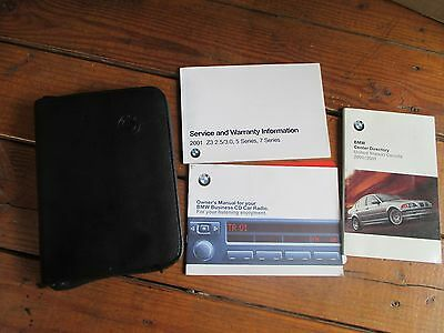 2001 BMW 525 530 540 E39 Owners Manual With Case Books