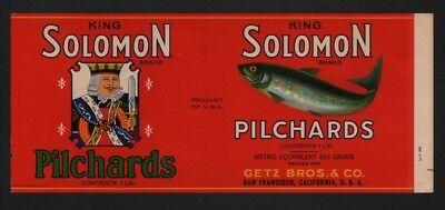 Morjon California PILCHARDS Can LABELS Wholesale Lot of 50 Old Vintage 1940/'s