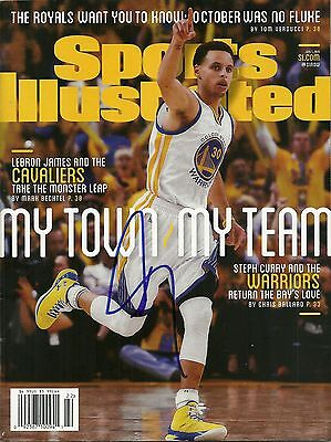 GS Warriors STEPHEN CURRY Signed Sports Illustrated SI Magazine EXACT PROOF Rare
