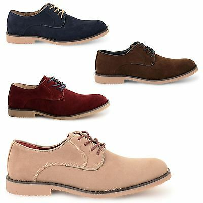 Mens Smart Shoes Faux Suede Party Wedding Formal Work Office Brogue Shoes Size