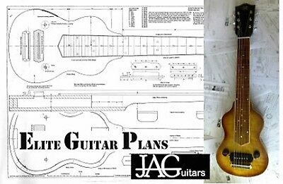 Luthiers Project Plan/Drawing for Gibson EH150 Lap Steel guitar Ideal Gift