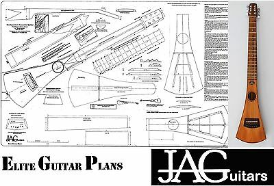 Luthiers Project Plan/Drawing for Backpacker guitar  Ideal Gift