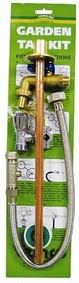 Outdoor Garden Tap Kit Complete DIY Set Copper Pipe & Brass Fittings