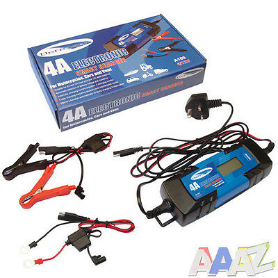 4 Amp Electronic Car Battery Charger 4A Fast/Trickle/Pulse Modes 4 AMP