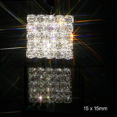 50 Solid Square Rhinestone Diamante Embellishment Ideal For Wedding Invites