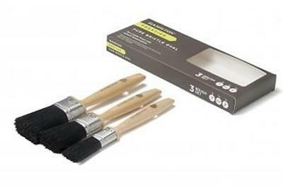 Hamilton 3pce Prestige Pure Bristle Oval Paint Brush Set