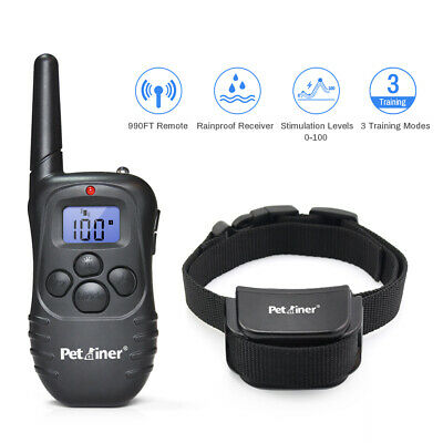 Petrainer Dog Training Collar Remote Control Rechargeable Pet Dog Shock Collar
