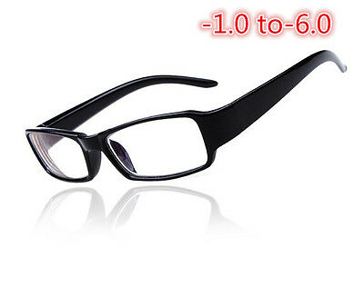 Thick Rim Black Frame Clear Myopia Eyeglass Nearsighted Minus Glasses -1.0~6.0