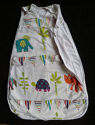 Baby clothes BOY GIRL 3-6m lightweight cotton animal sleepbag soft cotton lined