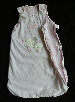 Baby clothes GIRL 3-6m pink velour cotton-lined George Millie&Max sleepbag