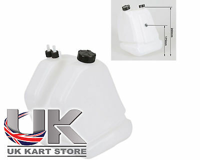 Petrol / Fuel Tank 9 Litre Quick Release Type Black Caps UK KART STORE