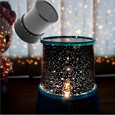 Romantic LED Starry Night Sky Projector Lamp Kids Star light Show Cosmos Master