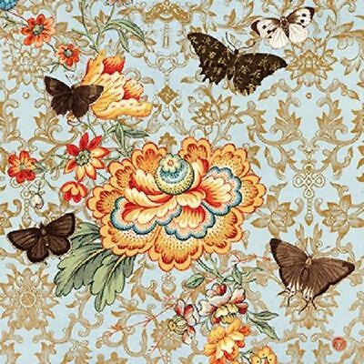 4 x Paper Napkins - Cathay Rose - Ideal for Decoupage / Napkin Art