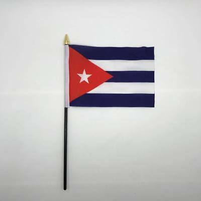 Table Desk Top Flag Cuba Flags Polyester Without Base Caribbean 100% to Charity