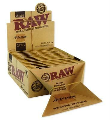 1 Box RAW ARTESANO KS SLIM King Size 15 Heftchen + Tips & Tray CLASSIC Papers