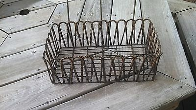Antique twisted wire window box for flowers garden  Neat