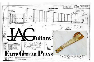 Luthiers Project Plan/Drawing for Gibson Century Lap Steel guitar  Ideal Gift