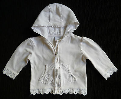 Baby clothes GIRL 9-12m NEXT white light summer jacket 2nd item post-free!
