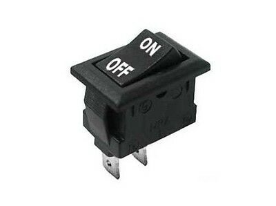 Interruttore a bilanciere 220V 10A unipolare con tasto nero switch 12V 21x15mm