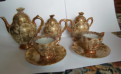 Japanese Kutani ? porcelain teaset - Signed circa early 20th century