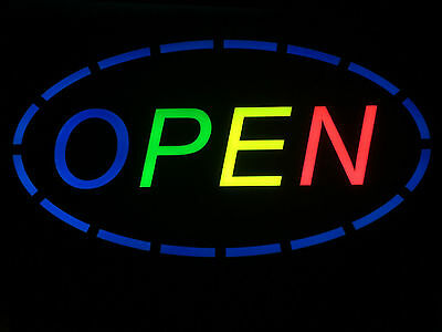 Top Quality Flashing Colour Led Open Sign Neon Shop Sign