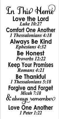 primitive stencil in our home bible verses family rules subway for