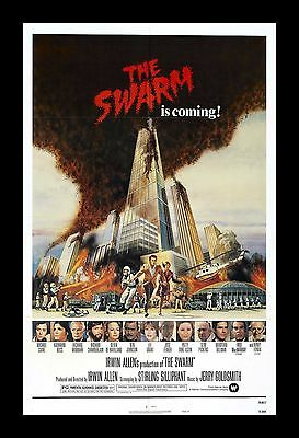 THE SWARM  framed movie poster 11x17 Quality Wood Frame