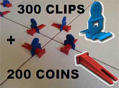 300 Clips/200 Coins Croisillons Auto Nivelant Perfect Level Classic