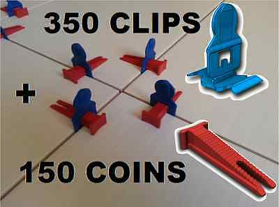 350 Clips/150 Coins Croisillons Auto Nivelant Perfect Level Carrelage Carreleur