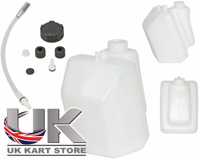 Petrol / Fuel Tank 3 Litre Push Through Black Caps UK KART STORE