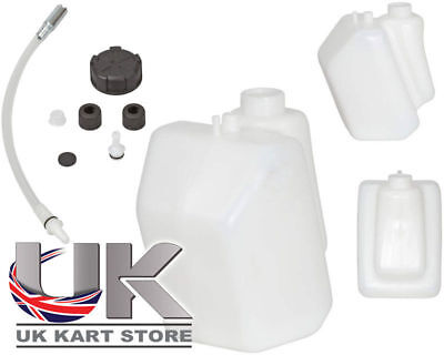 Petrol / Fuel Tank 3 Litre Push Through Black Caps Go Kart Karting Race Racing
