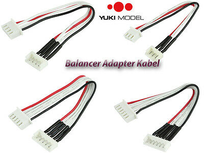 YUKI MODEL Amass Balancer Adapter Kabel 10cm EH XH Stecker Buchse 2S-6S