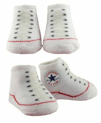 Converse Baby Bootie Socks Gift Box - White - 2 Pack