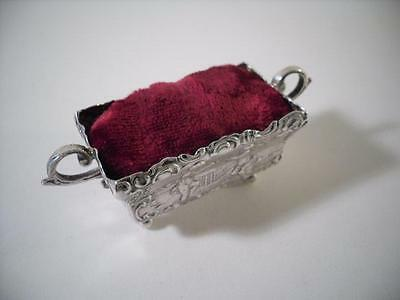 An Antique Silver 'Jardiniere' Pin Cushion : London 1896
