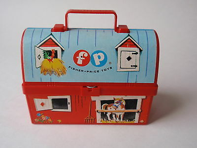Vintage 1962 Fisher Price Mini Farm Barn Lunchbox #549 East Aurora No Thermos