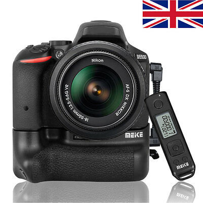 UK Meike DR5500 Battery Grip For Nikon D5500 With 2.4G Wireless Remote Controler