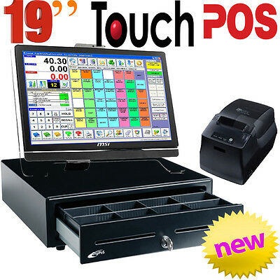 """NEW 19"""" Touch Screen POS Point of Sale Complete System Win 10 Retail Software"""