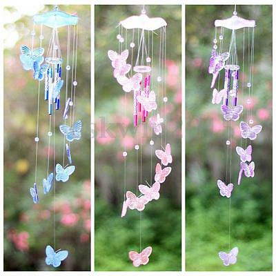Butterfly Mobile Wind Chime Bell Garden Ornament Gift Hanging Living Door Decor
