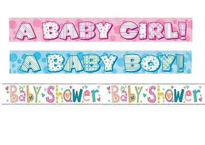 12Ft Gender Reveal Baby Shower Party Banner Girl Boy Pink Blue Party Decoration