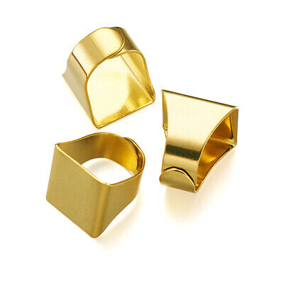 15pc Adjustable Brass Pad Ring Blank Tray Setting Square Golden Jewelry Makings