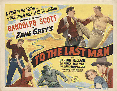 To the Last Man 1950 Original Movie Poster Western