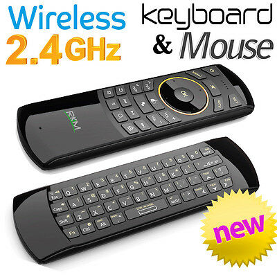 NEW RKM Wireless 2.4Ghz Fly Mouse & Mini Keyboard Combo for PC TV Android MK705