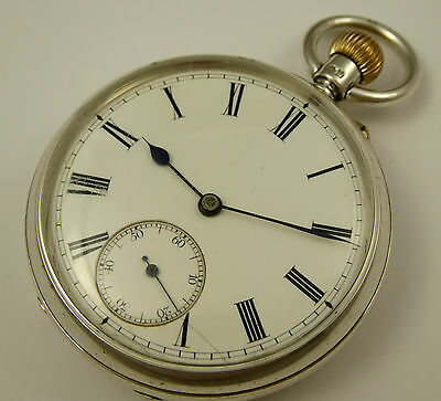 Antique 1901 Sterling Silver Crown Wound Pocket Watch  LAYBY